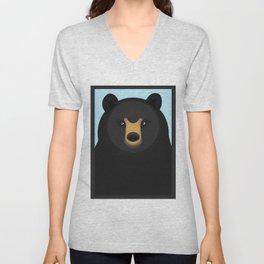 American black bear Unisex V-Neck