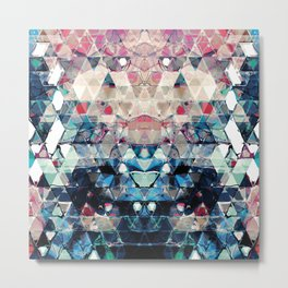 Colorful Abstract Triangles Metal Print