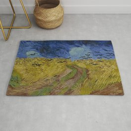 Wheatfield with Crows Rug