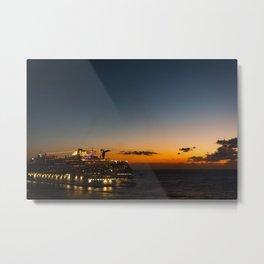 Cruise Ships Metal Print