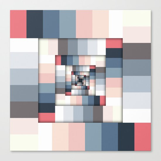 Geometric Layers of Color Canvas Print