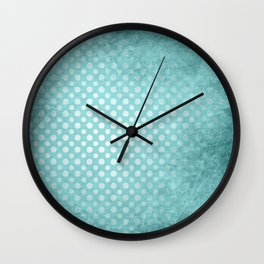 Beautiful textured limpet blue polka dot design Wall Clock