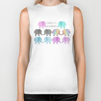 equality Biker Tanks featuring Equality Elephants by Jessica Latham