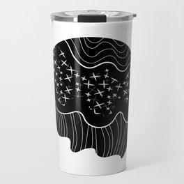 B&W Flowing Planet Travel Mug