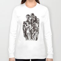 sisters Long Sleeve T-shirts featuring Sisters by Gregory Stovetop