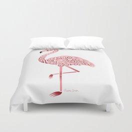 Funky Tribal Flamingo Duvet Cover