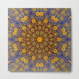 Vintage Morrocan Tile Metal Print