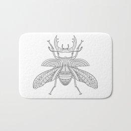 Decorative Stag Beetle Bath Mat