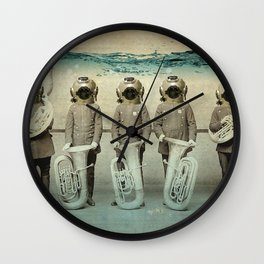 the diving bell Tuba quintet Wall Clock