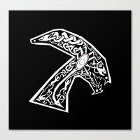 xenomorph Canvas Prints featuring Celtic xenomorph by ronnie mcneil