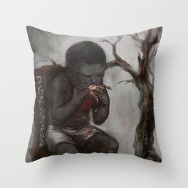 Greed Throw Pillow