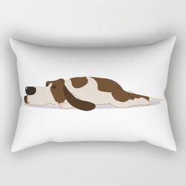 Sleeping Basset Illustration Rectangular Pillow
