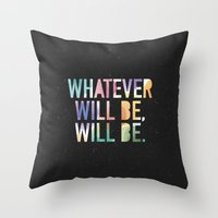 whatever Throw Pillows featuring Whatever by TheSmallCollective