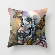 Laughing Skull Throw Pillow