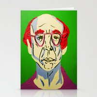 larry david Stationery Cards featuring Larry David 2 by Alyssa Underwood Contemporary Art