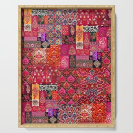 N98 - Traditional Heritage Boho Oriental Moroccan Collage Style. Serving Tray