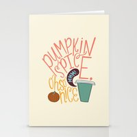 spice Stationery Cards featuring Pumpkin Spice by Chelsea Herrick