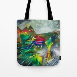 Sunset Landscape with Mountains by R. Matta Tote Bag