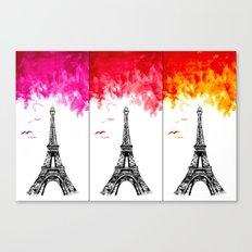 Triple Eiffel Canvas Print