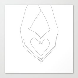 Hands of Love Canvas Print