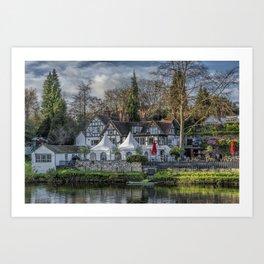 The Boathouse Pub Art Print