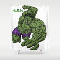hulk Shower Curtains featuring Hulk by Kame Nico