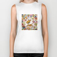 butterflies Biker Tanks featuring butterflies by Asja Boros