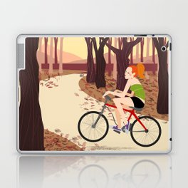 Bike Girl Laptop & iPad Skin