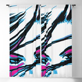angry blue eyes battle angel Blackout Curtain