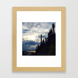 Costs of Progess Framed Art Print