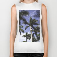 palms Biker Tanks featuring Palms by Chrissy Jenks