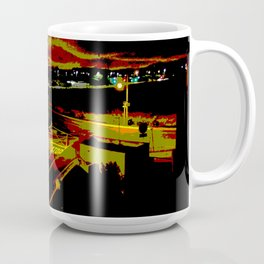 Don't stop. It's a sign. Stop street in the dark Coffee Mug