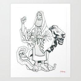 B&W Moshiach Art Print