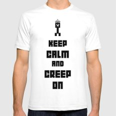 Keep Calm and Creep On White Mens Fitted Tee SMALL