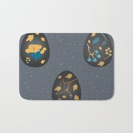 Collection Of Colorful Happy Easter Eggs Bath Mat