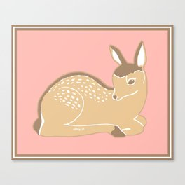 White-Tailed Deer Fawn Canvas Print