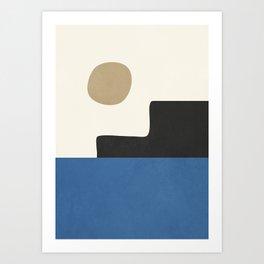 abstract minimal 30 Art Print