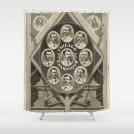 Chicago White Stockings Baseball Champions 1876-77 Shower Curtain