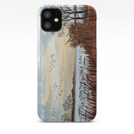 Duck Hunting Season Begins For The Canvasback iPhone Case
