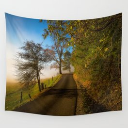 Smoky Morning - Whimsical Scene in Great Smoky Mountains Wall Tapestry