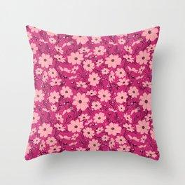 Cosmea pink Throw Pillow