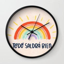 Todo Saldrá Bien Arcoíris Wall Clock