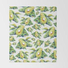 Avocados - Watercolor Throw Blanket