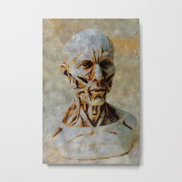 Stripped Metal Print