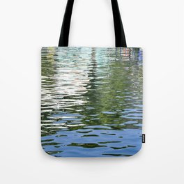 Colorful Reflections Abstract Tote Bag