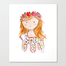 Sister Golden Hair Surprise Canvas Print