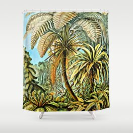 TROPICAL JUNGLE-Ernst Haeckel Shower Curtain
