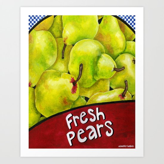 Fresh Pears Art Print