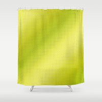 lime green Shower Curtains featuring Pattern lime green by Christine baessler