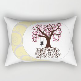 Swirls and a Swing Rectangular Pillow